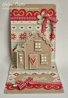 Karen Burniston's Snippets Collection!!! (And Pop 'n Cuts House Card)