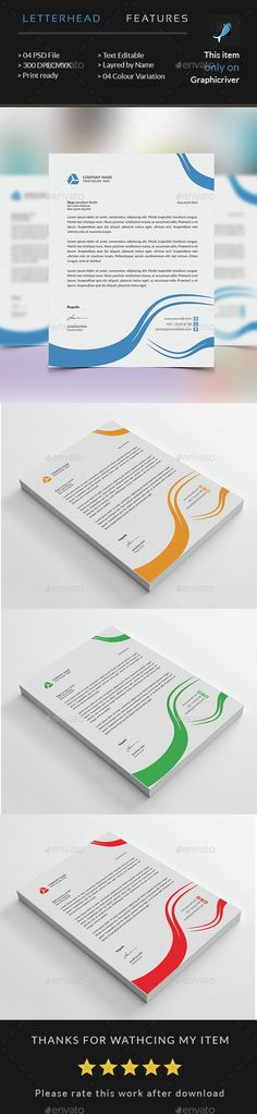 Corporate Business Letterhead Letterhead, Corporate business and - business letterhead