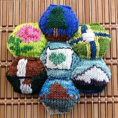 These are charts only and were designed to be used with the beekeeper's quilt by tiny owl knits, but they may certainly be used on any small item. Your imagination is the only limit.