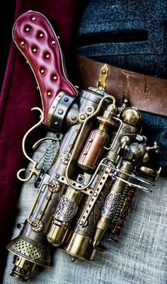 Safari Steampunk Anyone? Steampunk is a rapidly growing subculture of science fiction and fashion. Chat Steampunk, Style Steampunk, Steampunk Weapons, Steampunk Gadgets, Steampunk Cosplay, Steampunk Design, Victorian Steampunk, Steampunk Fashion, Gothic Fashion