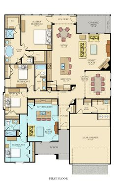 Plans Architecture - Hilltop II Home Within a Home New Home Plan in Enclave at Estancia Vista II Collection. Family House Plans, New House Plans, Dream House Plans, House Floor Plans, Home And Family, Dream Houses, Family Homes, The Plan, How To Plan