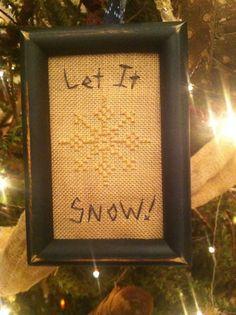 Primitive Snowflake Sampler ~ Cross Stitch Winter Tuckaway ~Early Ornament~  #NaivePrimitive #Stitcher