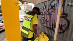 my throwup was up the whole time in TV featuring a very industrious traffic enforcer #kumpasnionkol (Follow Instagram: @bek.graffiti http://ift.tt/213mg8N)