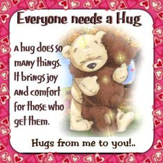 Love our hugs   Muah