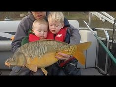 My 1 year old son got to go carp fishing with me and his older brother for the first time. We only got to fish for 45 minutes but we caught a nice 15 lb mirror carp and it was totally worthy the anarchy of having Nathan on the boat for the first time. Carp Fishing Videos, Carp Fishing Rigs, Catfish And Carp, Common Carp, Fishing Humor, 1 Year Olds, Anarchy, Sons, Brother