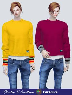 Giruto 66 layered short Sweaterstandalone / 20 colors / new mesh by me / base gameMediafire download OR Baidu download