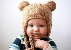 baby bear knitted hat