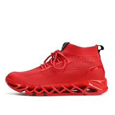 dbaf335fc4be65 New Simple Men Running Shoes Summer Autumn Breathable Mesh Boy Red Sneakers  Male Outdoor Sport Light Trainers .