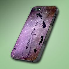 Peter Pan Quote Disney Purple - Hard Case Made From Plastic or Rubber - For iPhone 4/4s, 5, 5c, 5s, iPod 4, 5, Samsung S3, S4