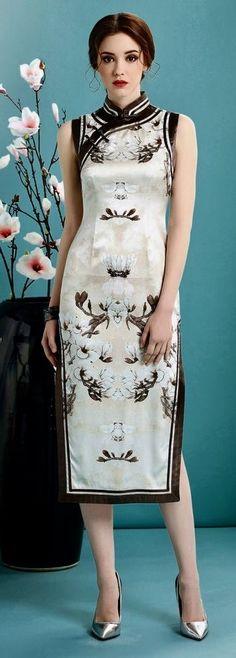 Modern silk qipao