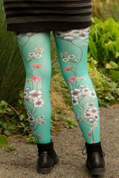 Mariette Bleue Printed Tights