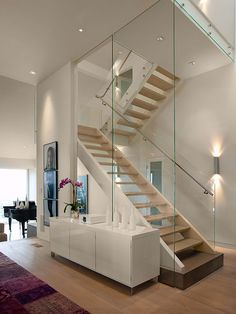 Contemporary Staircase Design, Pictures, Remodel, Decor and Ideas - page 12