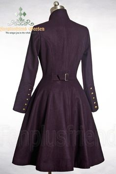 Elegant Gothic Aristocrat Formal Half-Mandarin  Collar Coat*Thick Wool