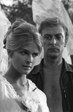Candice Bergen and Michael Caine in 'The Magus', 1967 // by Raymond Depardon