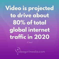 Video is projected to drive about 80% of total global internet traffic in 2020.  Is your marketing strategy ready?