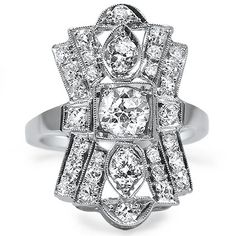 The Abrielle Ring from Brilliant Earth / Right hand vintage ring