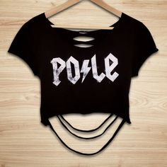 Cleo The Hurricane's PO/LE Slasher Crop Top, now available at Aerialist Boutique.