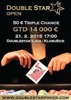 Pozývame Vás na DoubleStar OPEN GTD 14 000 € 50€ TripleChance 5/6, ktorý  sa uskutoční dňa 21.2. 2015 (t.j. v sobotu) o 17:00 hod. v kaštieli Klobušice – Ilava. Zaregistrovať sa môžete a bližšie info nájdete na www.doublestarpoker.com. Dna, Gout