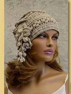 The Effective Pictures We Offer You About diy hair accessories easy A quality picture can tell you many things. You can find the most beautiful pictures that can be presented to you about diy hair acc Crochet Hat With Brim, Crochet Hat For Women, Crochet Cap, Crochet Woman, Crochet Beanie, Irish Crochet, Knitted Hats, Free Crochet, Crochet Leaf Patterns