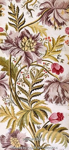 Textile design in the French Pattern style, by Anna Maria Garthwaite (1690-1763). Watercolour. London, England, 1733