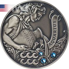 Belarus-2013-20-rubles-Aquarius-Signs-of-the-Zodiac-Antique-finish-Silver-Coin