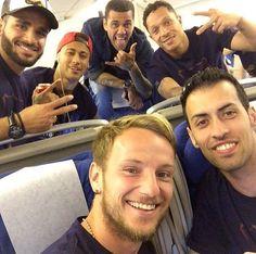 @FCBarcelona/players on Twitter  Ivan Rakitic @ivanrakitic  4h4 hours ago View translation Vamoooos!!!  ¡Campeones!
