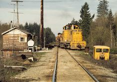 Chehalis Western log train at Western Junction