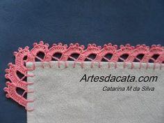 Crochet Edging Patterns, Crochet Lace Edging, Crochet Borders, Lace Patterns, Crochet Trim, Crochet Flowers, Crochet Stitches, Crochet Hot Pads, Crochet Box