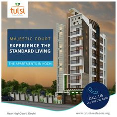 Premium Apartments In Kochi Book And Own The Awesome Now From Top Builders Tulsi Developers