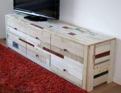 Tv meubel van sloophout | tv meubel Ivan | de Steigeraar