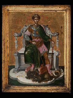 Ο ΑΓΙΟΣ ΔΗΜΗΤΡΙΟΣ Προσκυνητής: Μια άγνωστη εικόνα του Δομήνικου Θεοτοκόπουλου ανακαλύφθηκε στην Ιταλία