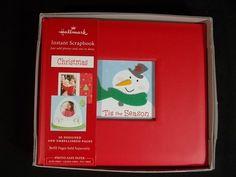 "Hallmark Instant Christmas Scrapbook Embellished Pages 6.5"" x 7.5"" New #Hallmark"