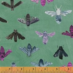Dreamer Save the Bees Turquoise | Carrie Bloomston for SUCH Designs | Windham Fabrics
