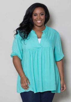 Our plus size tunic top is a bohemian-inspired versatile top that will become one of your favorites! Super comfortable and very stylish.