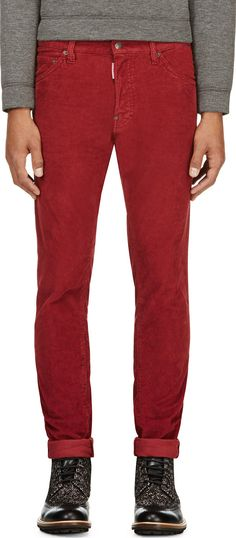 Dsquared2 - Red Corduroy Cool Guy Pants | SSENSE