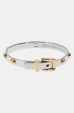 WANT!! Michael Kors 'Astor' Buckle Bangle available at #Nordstrom