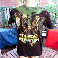 Black Eyed Peas Band Concert Tour Shirt Sz M Tultex Black Fergie The End Album #Tultex #GraphicTee