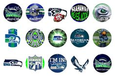 """Settle Seahawks inspired 1"""" instant digital download by JustSayinJewels on Etsy"""