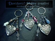 danidan67 hobby creativi: Portachiavi cuore
