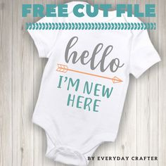 cricut idea, free svg, free cut file, free file for cricut, free file for silhouette, diy onesie, silhouette ideas, cricut ideas, free file for onesie, htv, heat transfer vinyl, iron on vinyl, file for heat press Diy Cutting Board, Diy Baby Gifts, Baby Svg, Iron On Vinyl, Cricut Vinyl, Teds Woodworking, Free Baby Stuff, Baby Bodysuit, Baby Onesie
