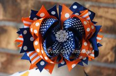 Hey, I found this really awesome Etsy listing at https://www.etsy.com/listing/161730981/girls-boutique-hairbow-ott-orange-and