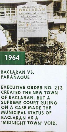 Executive Order, Supreme Court, Philippines, History, Historia
