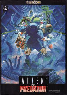 The Arcade Flyer Archive - Video Game Flyers: Alien vs. Predator, Capcom
