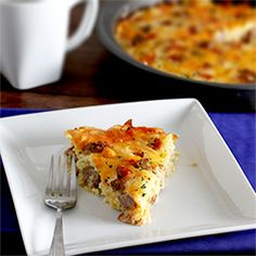 Amish Breakfast Casserole 1/2 pound bacon 1/2 pound breakfast sausage 1/2 teaspoon salt 1/2 teaspoon black pepper 1/4 teaspoon garlic powder 1 teaspoon hot sauce 2 large baked potatoes, cooled and shredded (about 4 cups) or 4 cups frozen shredded hash browns that have been completely thawed 1 small onion, finely diced 8 ounces sharp cheddar cheese, shredded – divided 8 ounces Swiss cheese, shredded – divided 6 eggs, slightly beaten 1 1/2 cups cottage cheese.