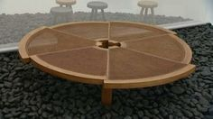 Charlotte Perriand - low circular table - in six radial sections