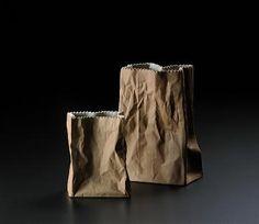 rosenthal paper bag vase....c. 1977