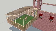 Disneyland Fire Department in 3D side patio
