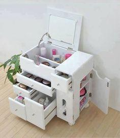 Cajón organizador de maquillaje