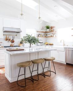 White eclectic kitchen