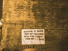 Suicide quote.
